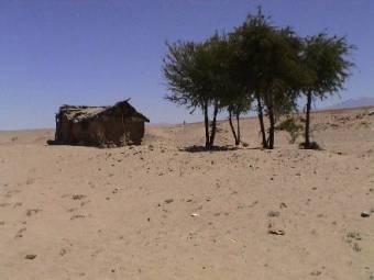 tombes dans le désert